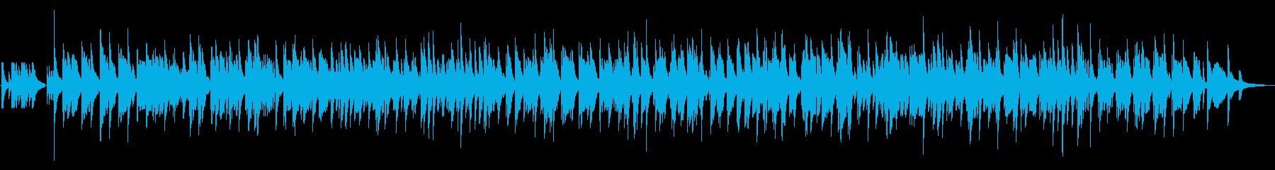 ピアノとベースのゆっくりジャズラウンジの再生済みの波形