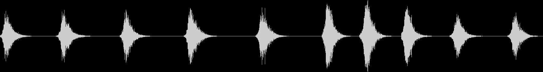 ウグイスの地鳴き(さえずりでなはい声)の未再生の波形