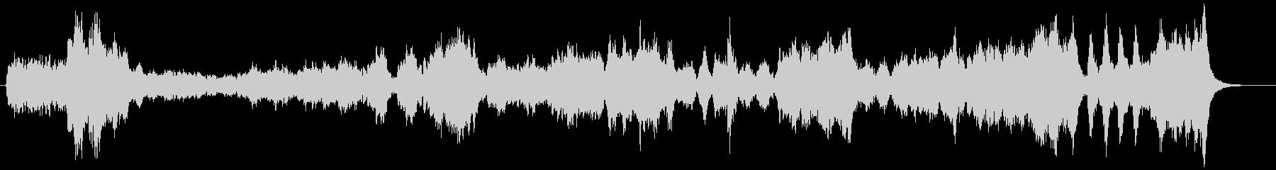フルオーケストラのバレエ用のワルツの未再生の波形