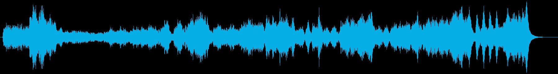 フルオーケストラのバレエ用のワルツの再生済みの波形