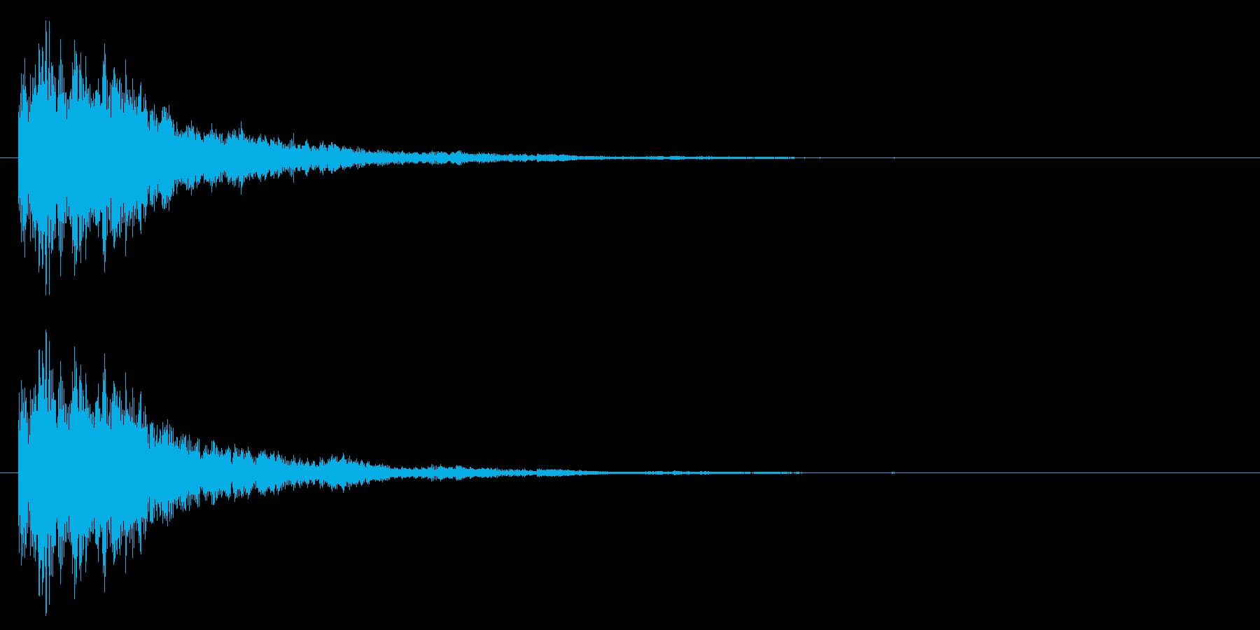 SF/決定音/スタート音の再生済みの波形