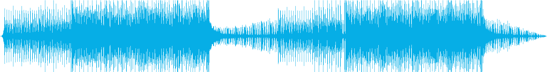 Bright and energetic dance music's reproduced waveform