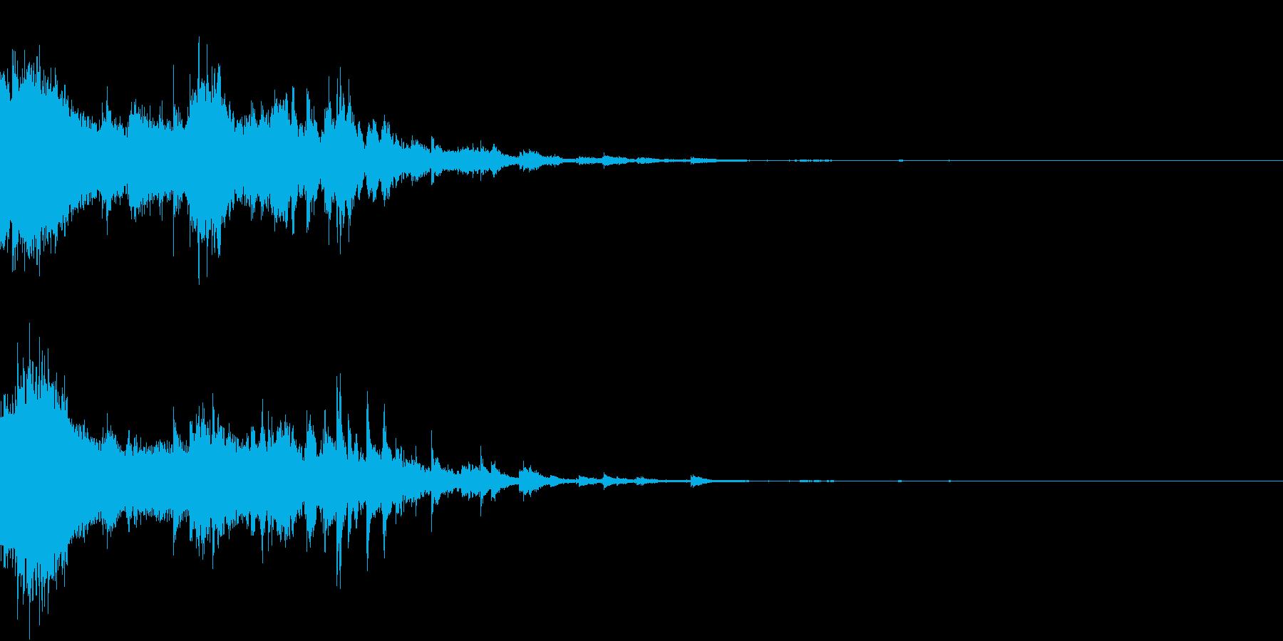 魔法で回復(キラキラ)の再生済みの波形