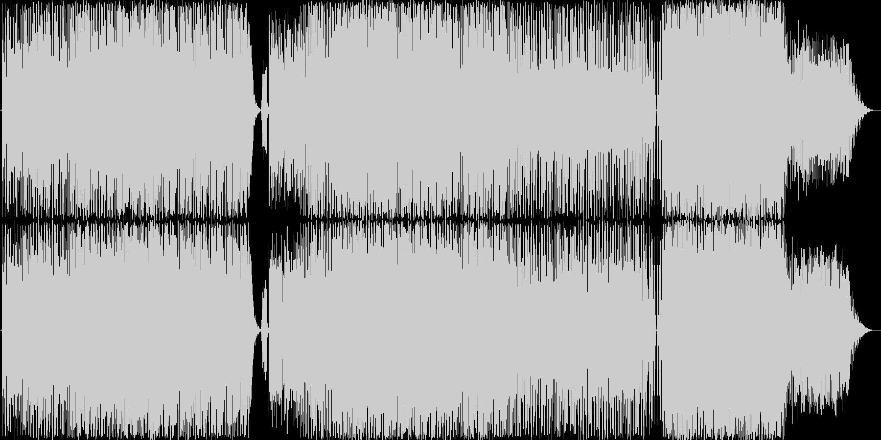 テクノです。ガジェット楽曲風な仕上がり…の未再生の波形
