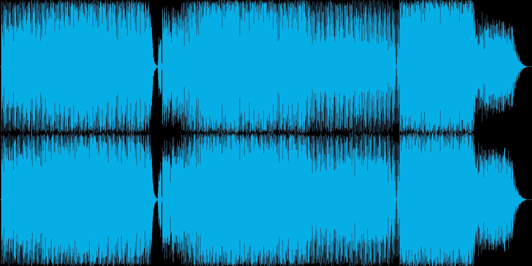 テクノです。ガジェット楽曲風な仕上がり…の再生済みの波形