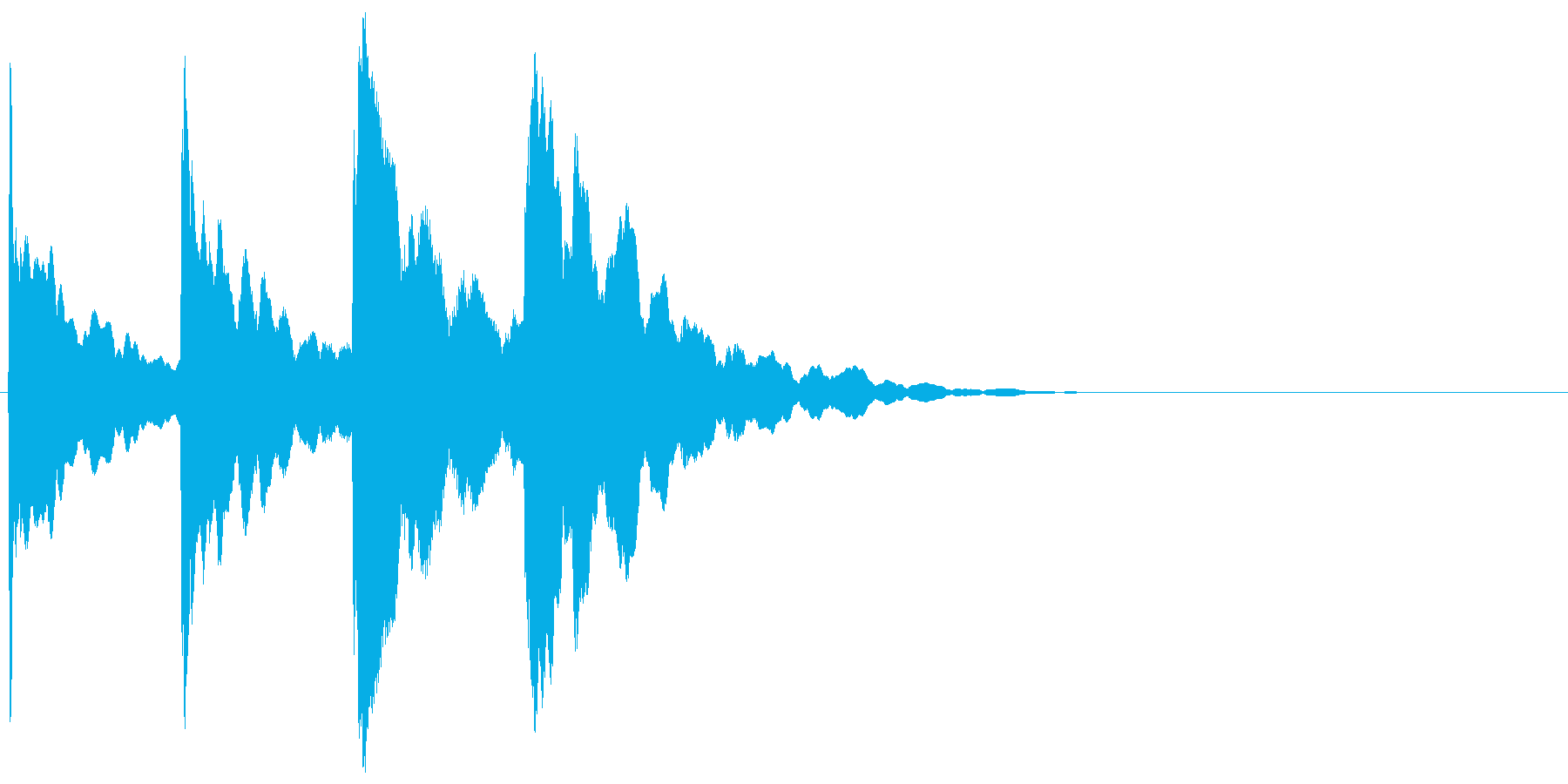 ピンポンパンポン↑(チャイム、呼び出し)の再生済みの波形