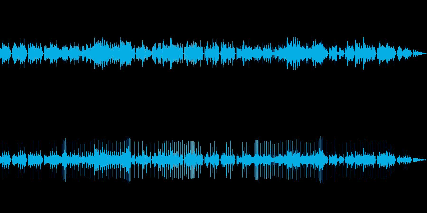 フルートと拍子木が印象深い和風系BGMの再生済みの波形