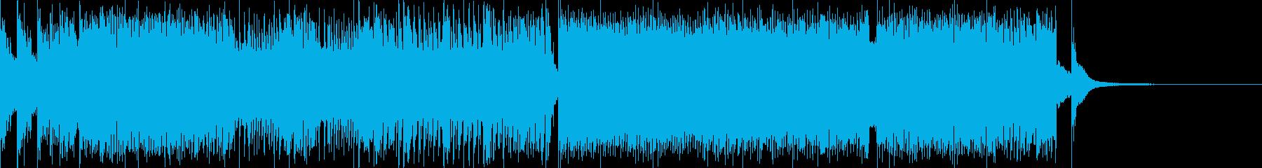 ハイテンションなわちゃわちゃ和風BGMの再生済みの波形