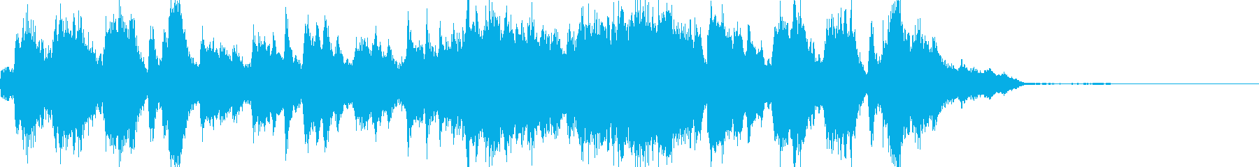 37秒で完結するファンタジーミュージックの再生済みの波形