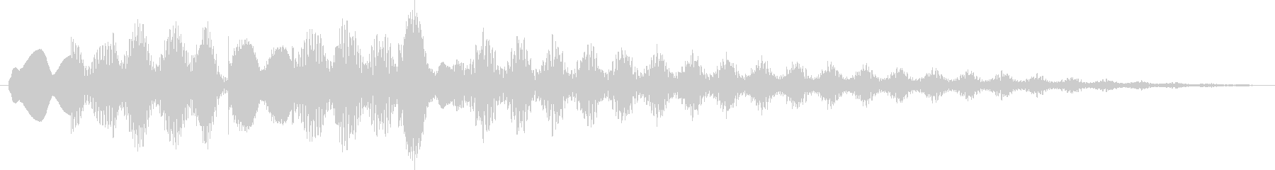 ビブラフォン:ケイデンスアクセント...の未再生の波形