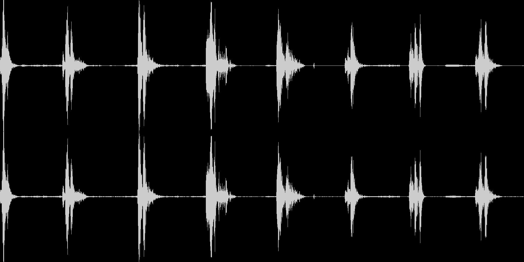 力場のデブリ反応の未再生の波形