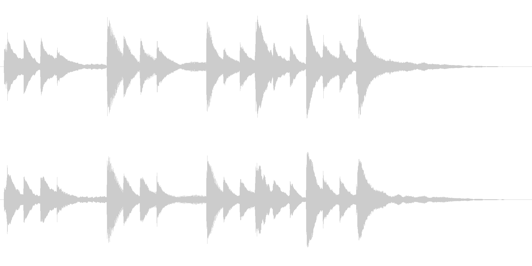 ピアノソロのジングル ヒーリングの未再生の波形