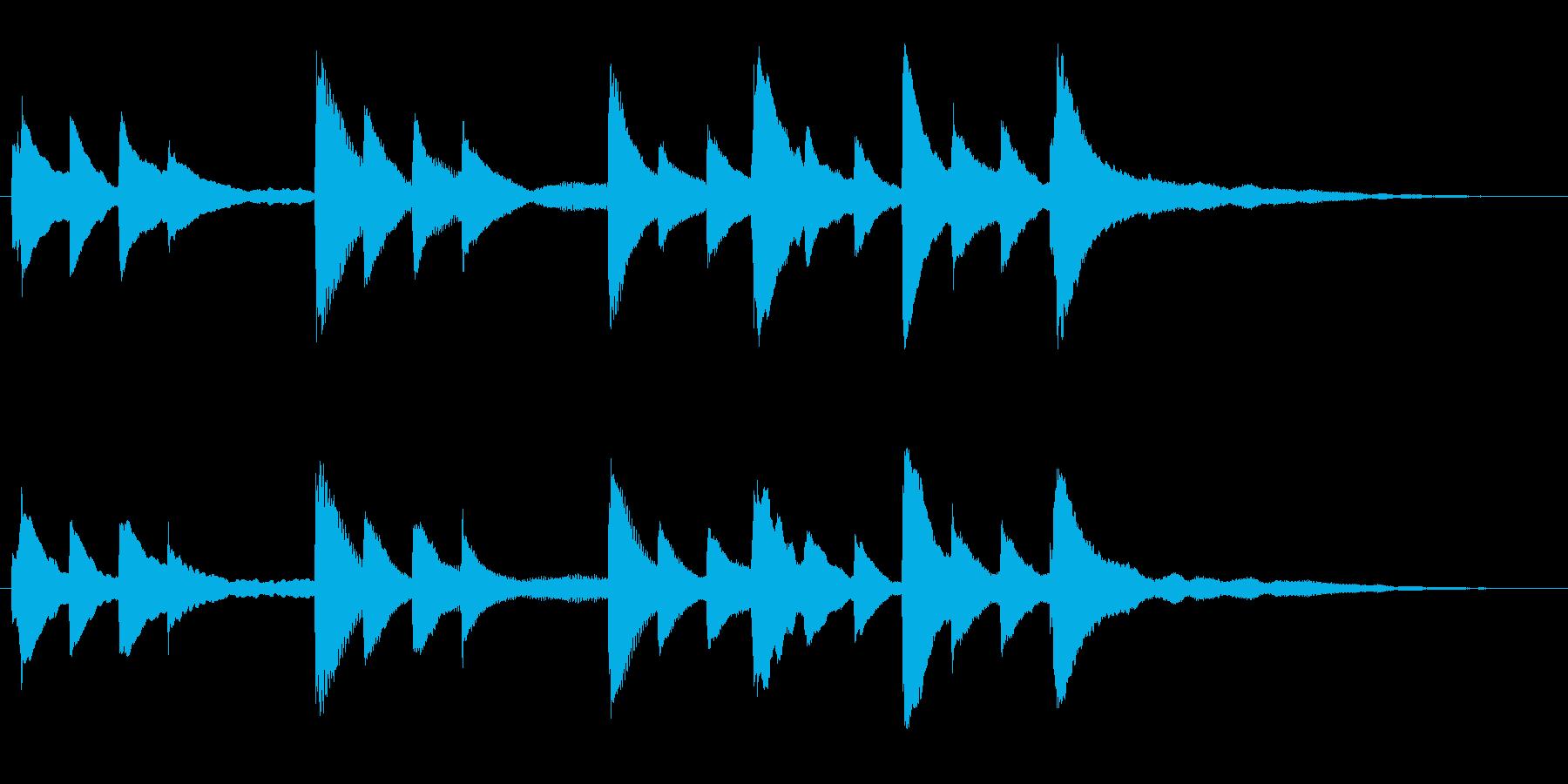 ピアノソロのジングル ヒーリングの再生済みの波形