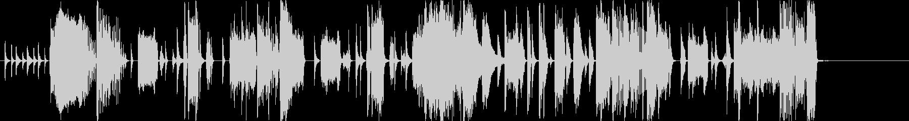 ファンクファンファーレの未再生の波形