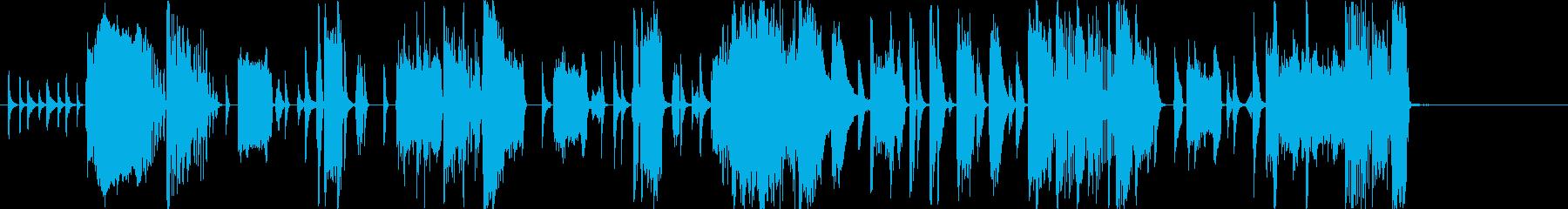 ファンクファンファーレの再生済みの波形