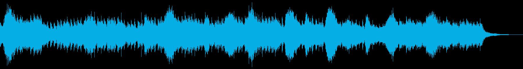 ミステリアスなストリングスとアルペジオの再生済みの波形