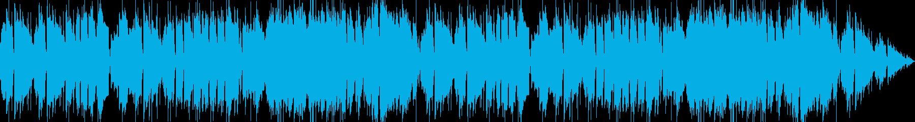 明るい雰囲気で楽しいBGMの再生済みの波形