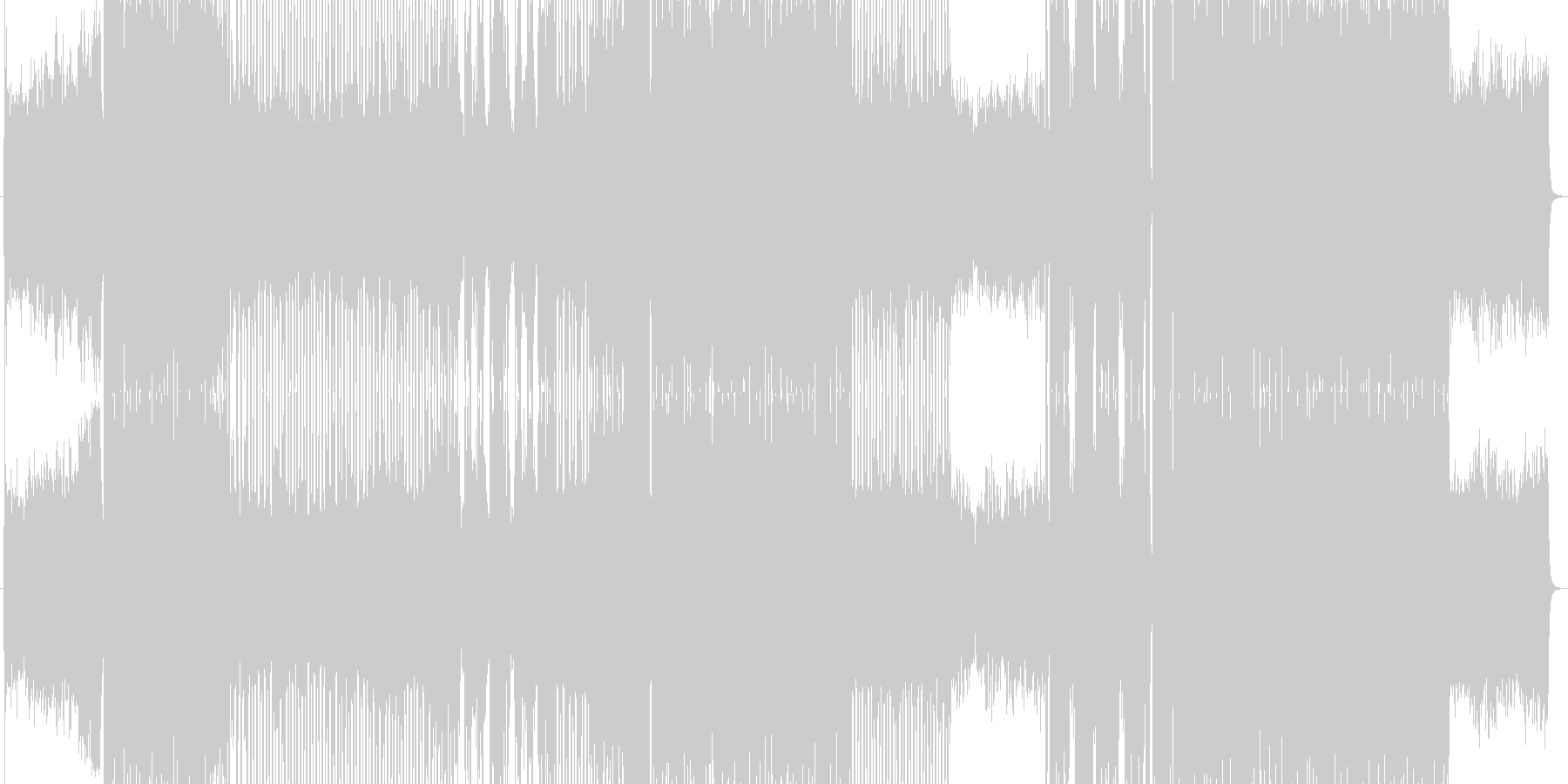 多角的なポップEDMの未再生の波形