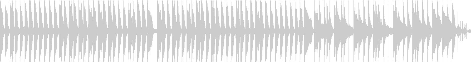 ほのぼのした雰囲気のBGMの未再生の波形