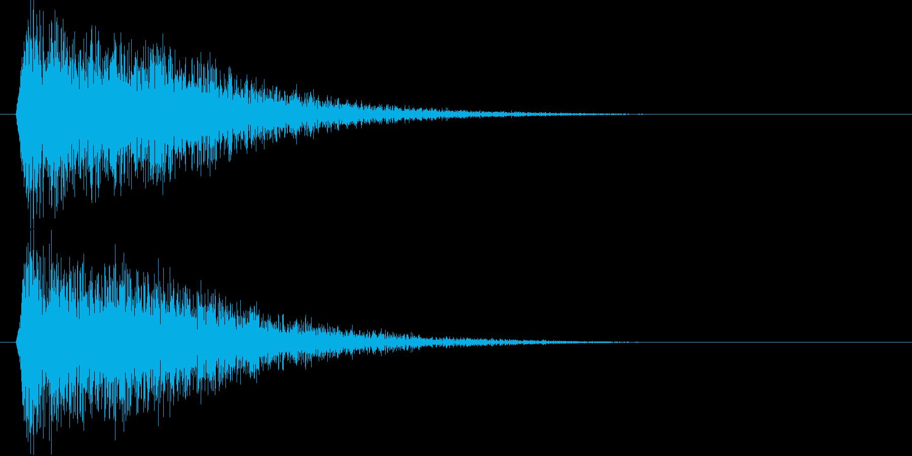 ガキーン(大地を切り裂く斬撃音)の再生済みの波形