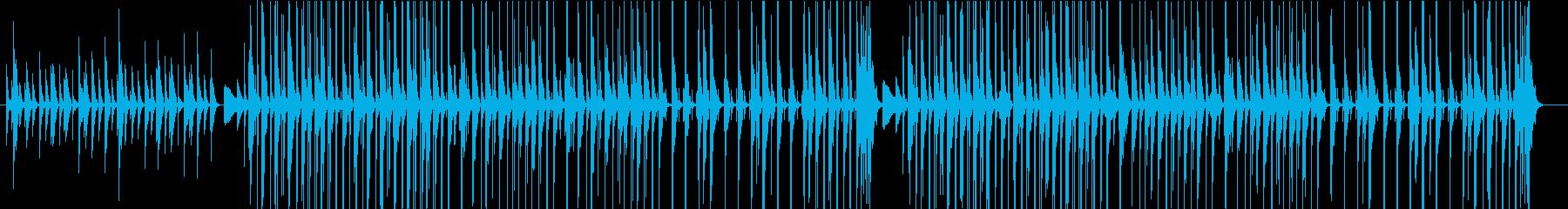 ほのぼのしたアコースティックアンサンブルの再生済みの波形