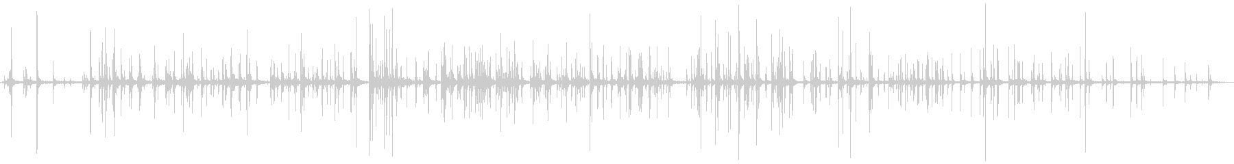 ポップコーンポップの未再生の波形