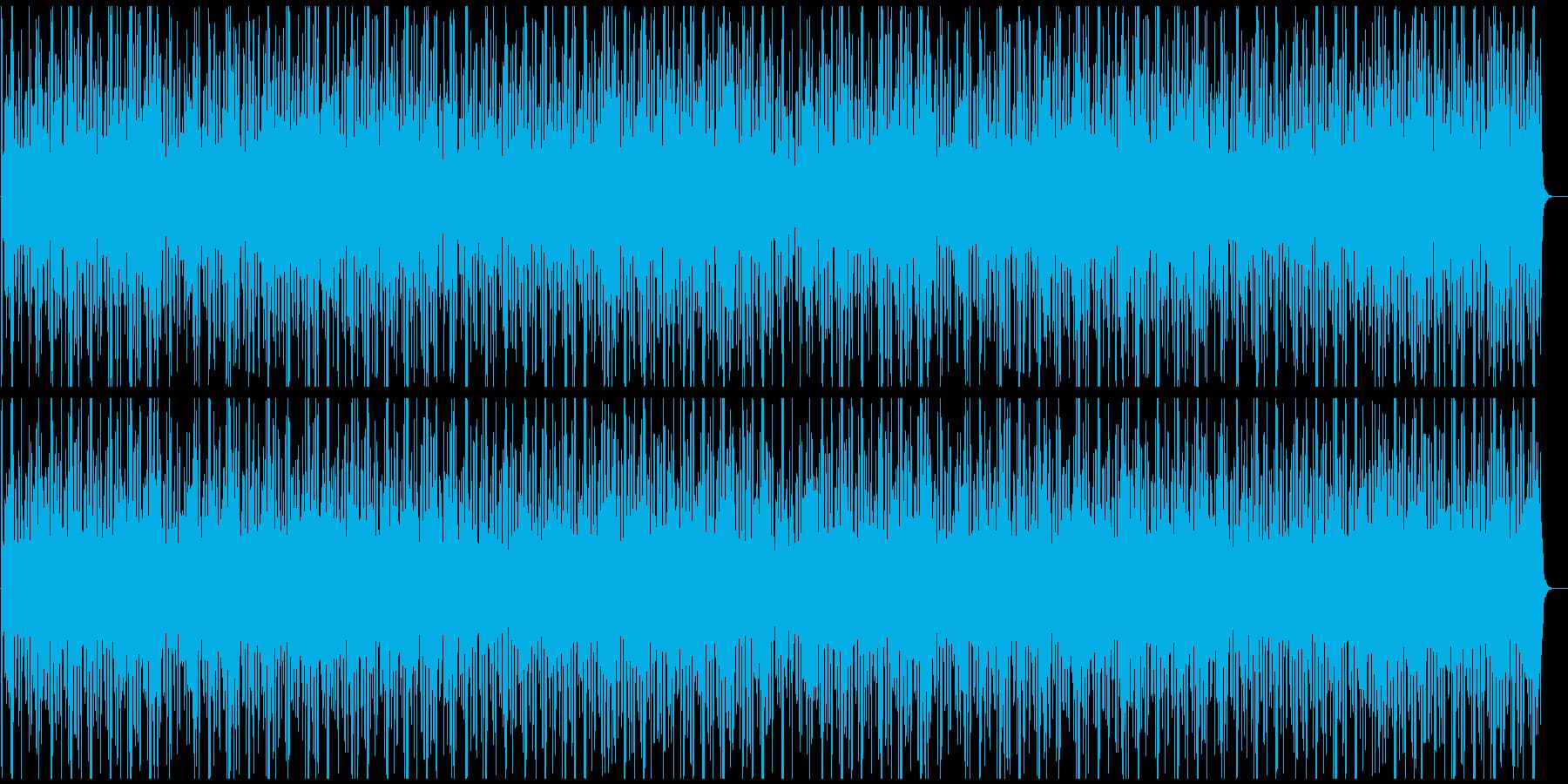 太鼓と和風な笛の、風情を感じるお祭り曲の再生済みの波形