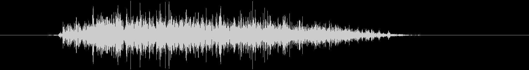 大型モンスターの声 ダメージ グアッ Sの未再生の波形