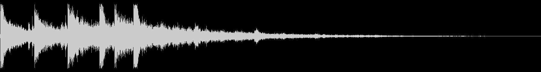 ダーク フレーズ トイピアノの未再生の波形