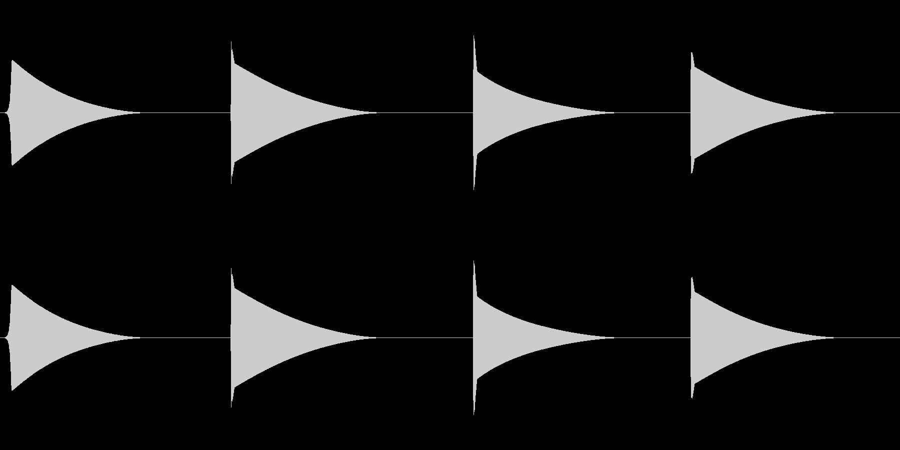 フォール、パス、シンプル、SCI ...の未再生の波形