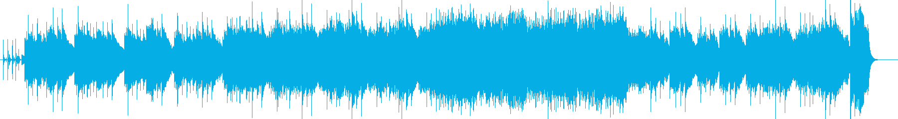 青い空をイメージしたポップスの再生済みの波形