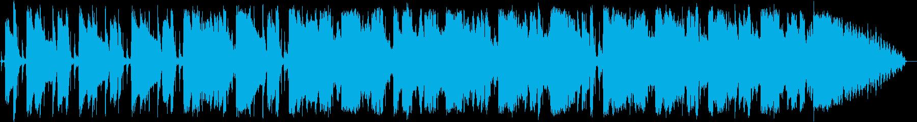 ロックブルースの短いインストの再生済みの波形