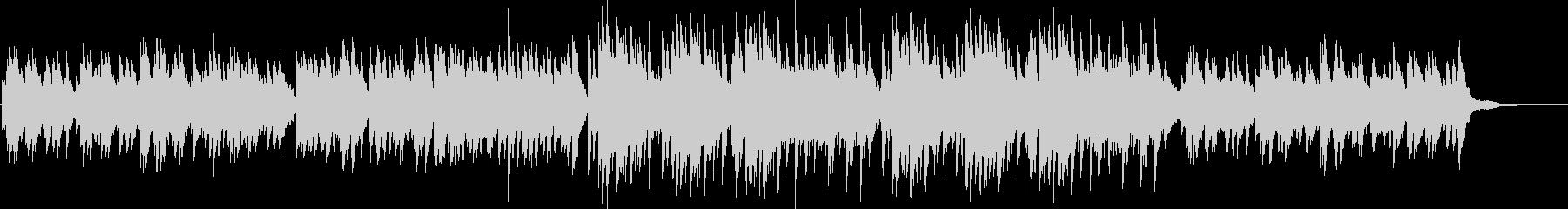 優しくて切ない雰囲気のピアノソロBGMの未再生の波形