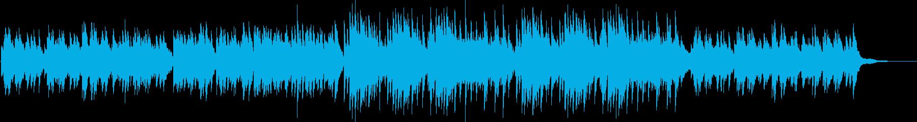優しくて切ない雰囲気のピアノソロBGMの再生済みの波形