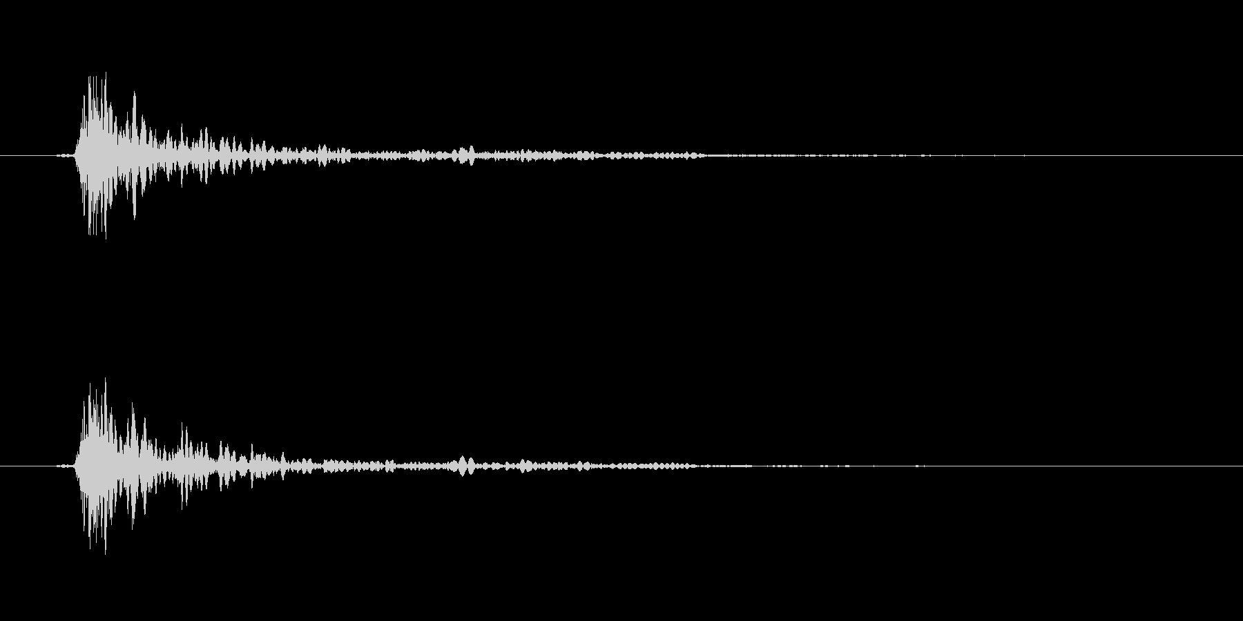 大砲の音バリエーション1の未再生の波形