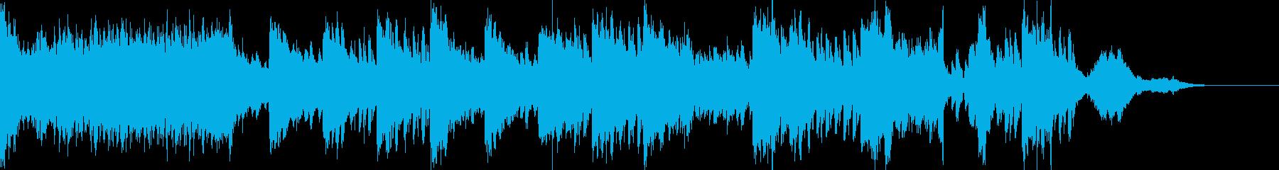 ピアノのミステリアスな激怖ホラーの再生済みの波形
