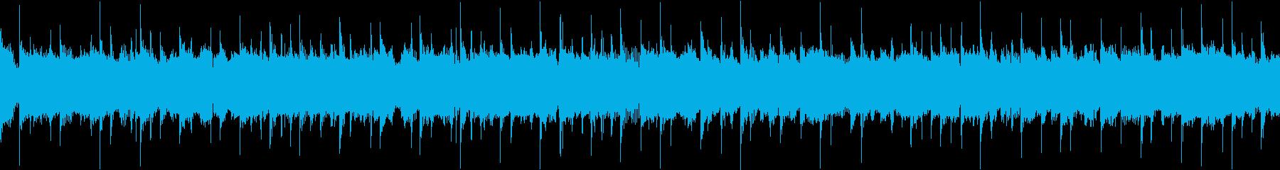 勢い・重厚・ヘビーな刻みのメタルBGMの再生済みの波形