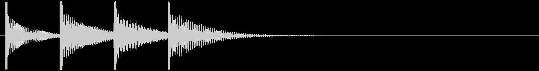 カリンバの不思議なアイキャッチ 可愛いの未再生の波形