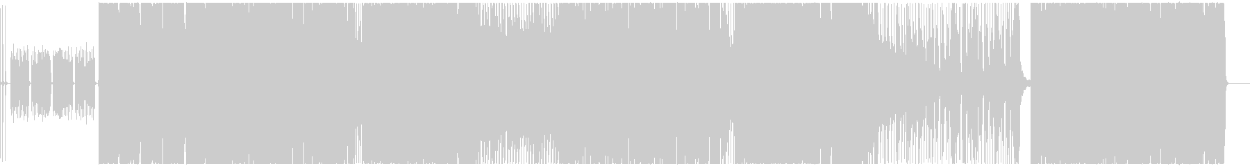 テンションの上がるグランジロックの未再生の波形