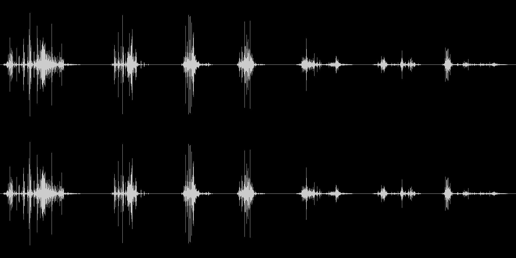 ポテトチップスチューインクランチの未再生の波形