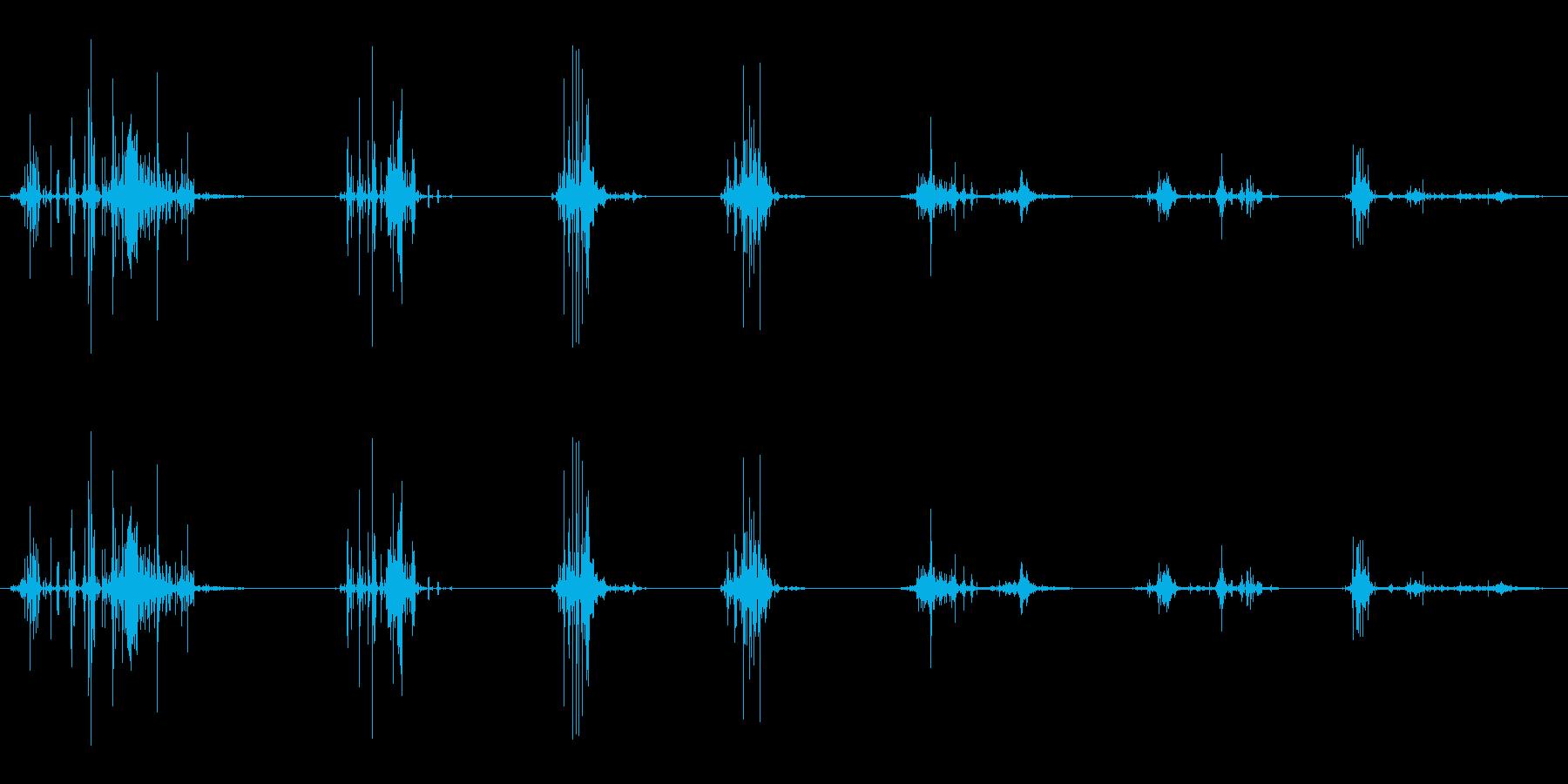 ポテトチップスチューインクランチの再生済みの波形