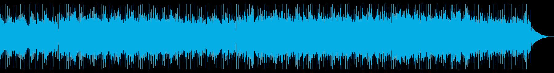 優しい旋律のアコースティックギターBGMの再生済みの波形