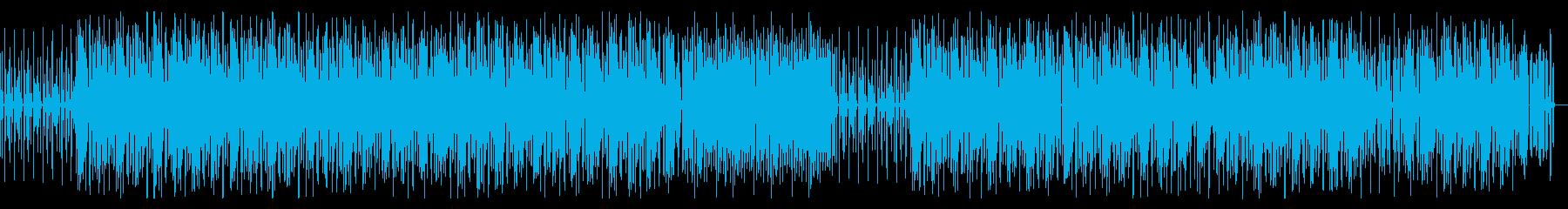 陽気 まったり ファンク・ブルース調の曲の再生済みの波形