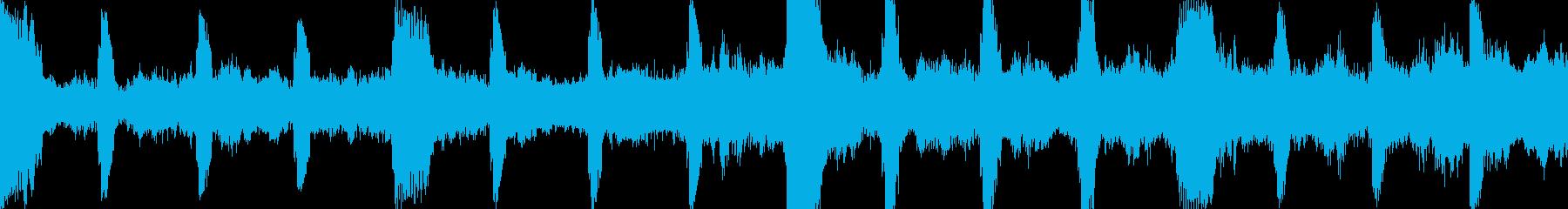 不気味なダーク・アンビエント・ループ◯の再生済みの波形