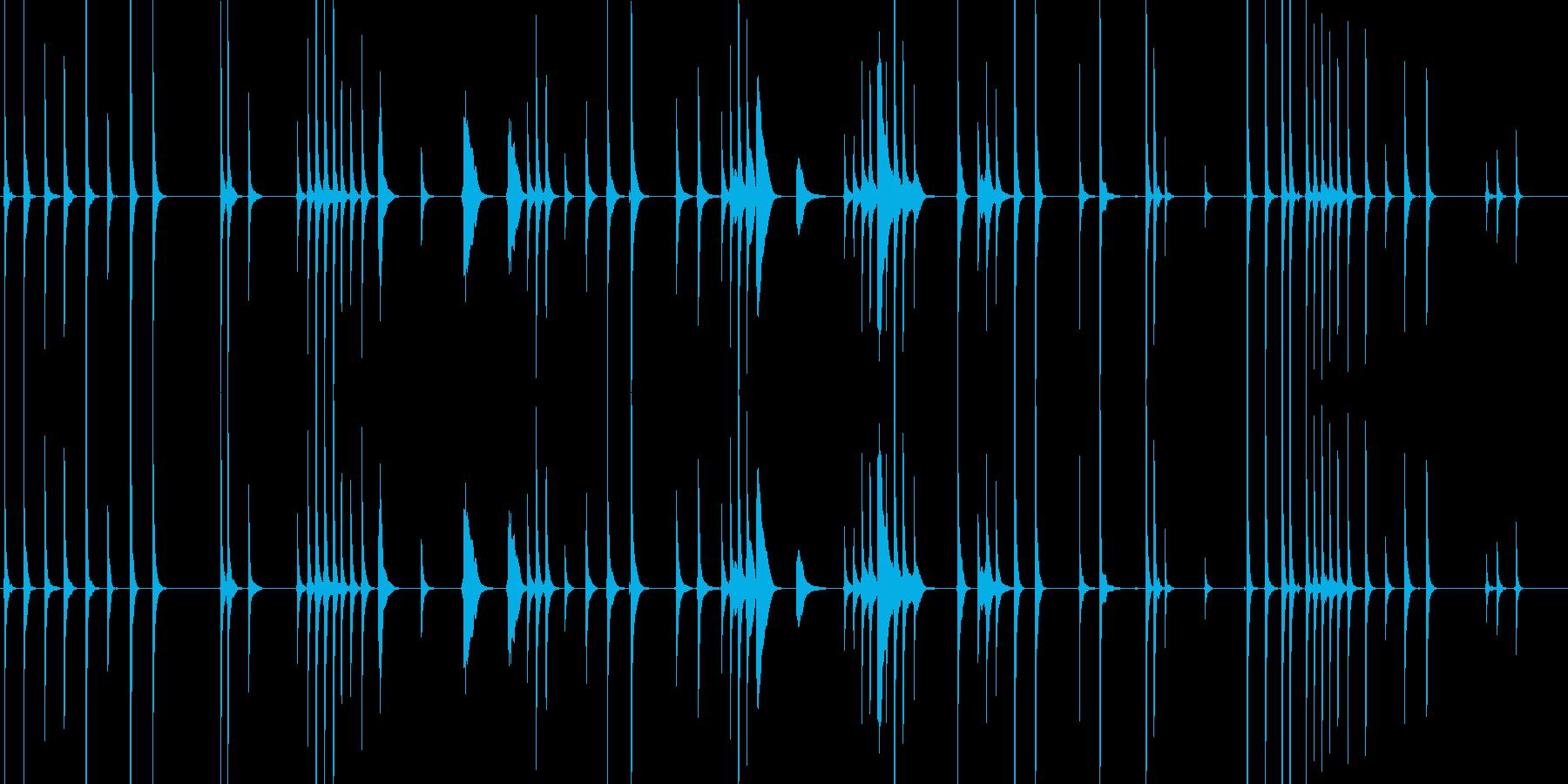 三味線132鷺娘30死ぬ合方長い方妖怪鷺の再生済みの波形