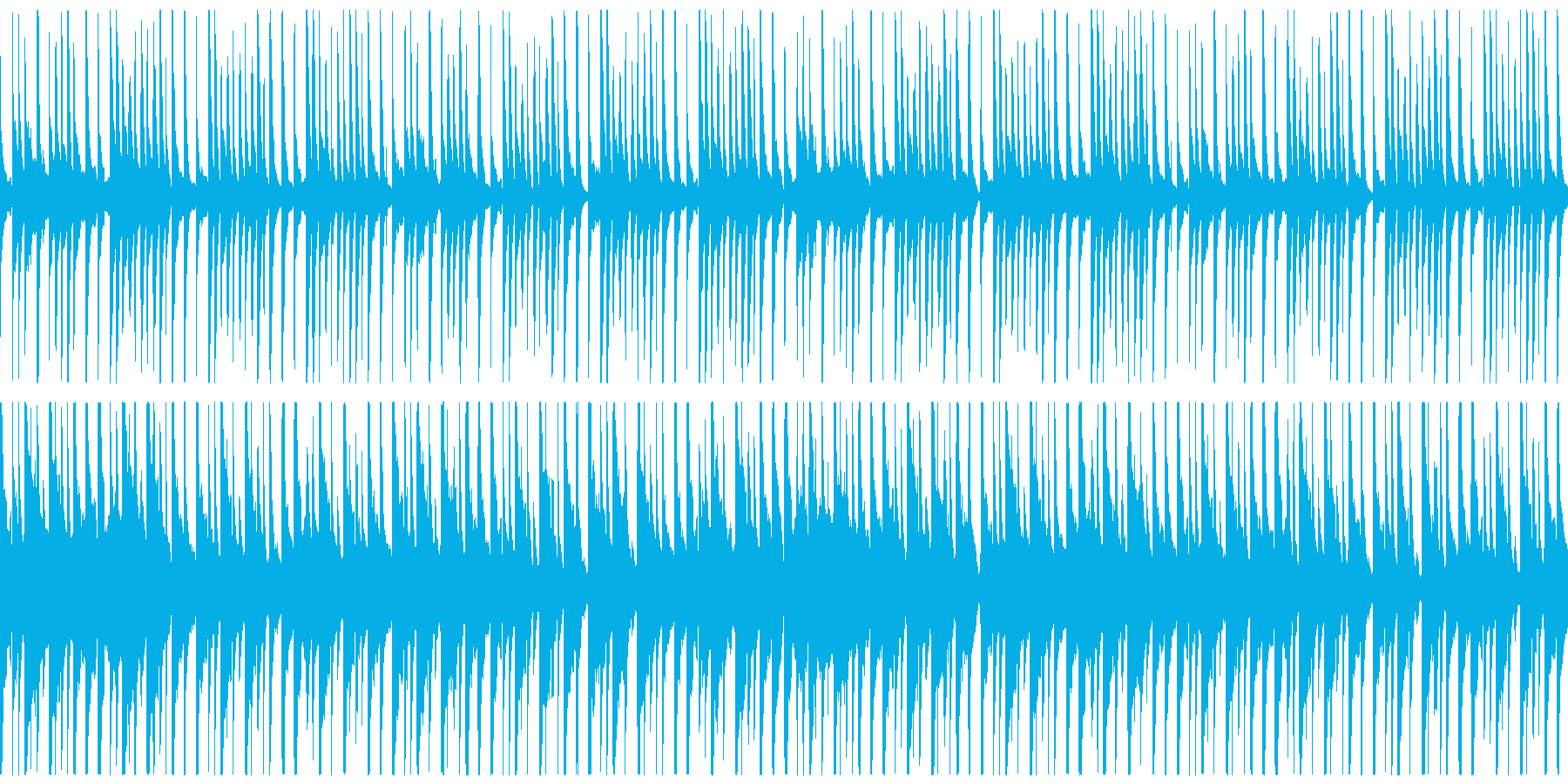 和楽器を中心としたお囃子・出囃子のループの再生済みの波形