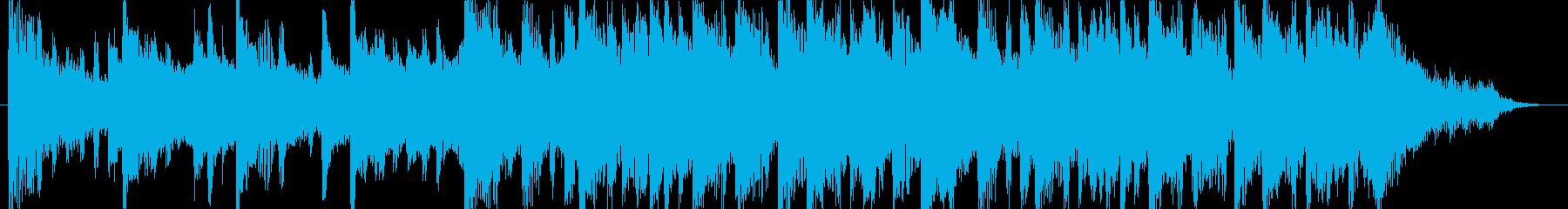 和む、でも少しクールなBGM-30秒の再生済みの波形