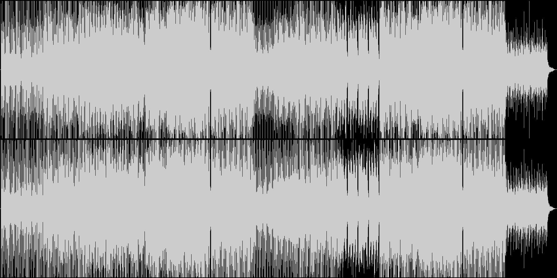 スキップしたくなるような可愛く明るい楽曲の未再生の波形