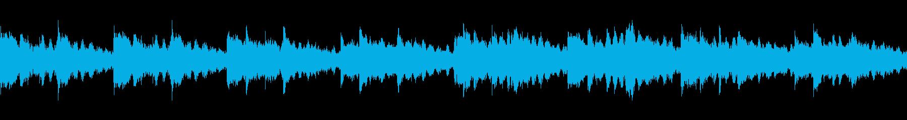 スローテンポのリラクゼーショントラックの再生済みの波形