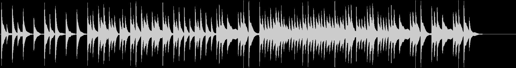 ハープの音で作ったリラックス出来そうな曲の未再生の波形